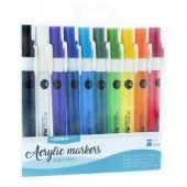 Studio Light Box 10 acrylic markers Bright Colors nr 01 (08-19) (AMSL01)