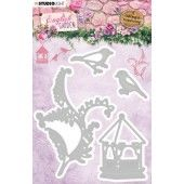 Studio Light Embossing Die English Garden nr.237 STENCILEG237 103x121 mm (01-20)*