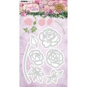 Studio Light Embossing Die English Garden nr.239 STENCILEG239 92x126 mm (01-20)*
