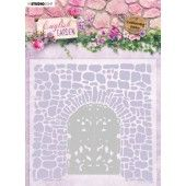 Studio Light Embossing Folder With Die Cut English Garden nr.03 EMBEG03 (01-20)*