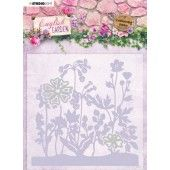 Studio Light Embossing Folder With Die Cut English Garden nr.04 EMBEG04 (01-20)*