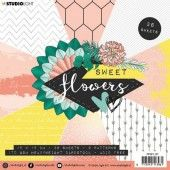 Studio Light paper pad Sweet Flowers nr.137 PPSFL137 15x15 cm (03-20)*