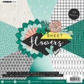 Studio Light paper pad Sweet Flowers nr.138 PPSFL138 15x15 cm (03-20)*