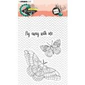 Studio Light Stamp A6 Sweet Flowers nr.437 STAMPSFL437 (03-20)*
