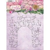 Studio Light stempel 14 x14 Background English Garden nr.434 STAMPEG434 (01-20)*