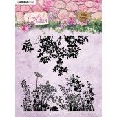 Studio Light stempel 14 x14 Background English Garden nr.435 STAMPEG435 (01-20)*