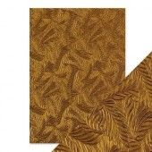 Tonic Studios embossed papier - copper feathers Handmade (9815E)*