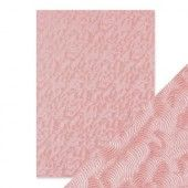 Tonic Studios embossed papier - pink champagne Handmade (9811E)*