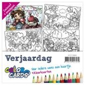 Color Cards 4 - Verjaardag - Yvonne Creations