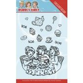 Clearstamp - Yvonne Creations - Bubbly Girls - Tea Party