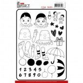 Clear Stamps - Yvonne Creations - Petit PierrotClear Stamps - Yvonne Creations- Pretty Pierrot 2 (AFGEPRIJSD)
