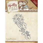 Die - Yvonne Creations - Holly Jolly - Ornament