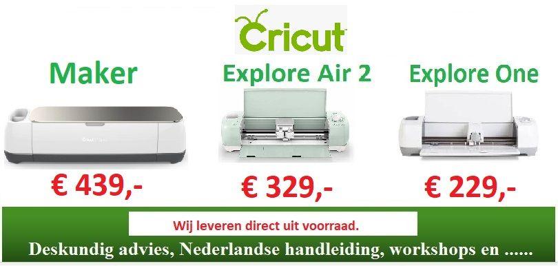 De Cricut Maker, Explore Air 2 en One