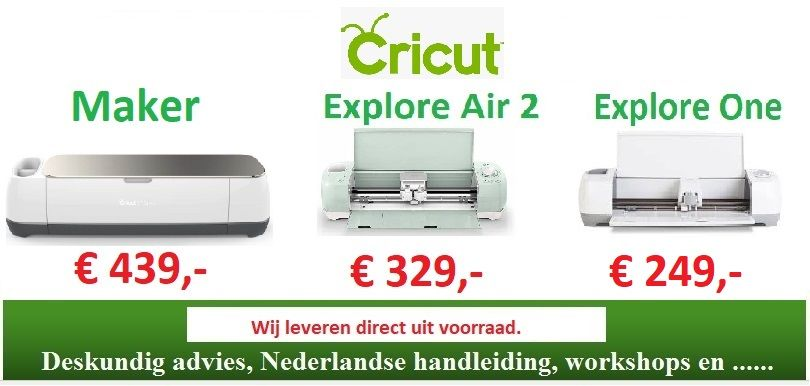 De Cricut Maker, Explore Air 2 en One