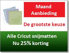 Cricut aanbieding snijmaten